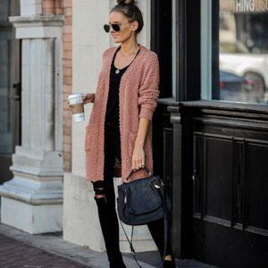 New with Tags! Vici Dark Blush Knit Cardigan - S